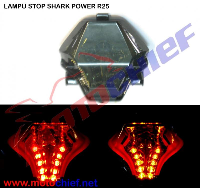 Shark Power - Lampu Stop Yamaha R25