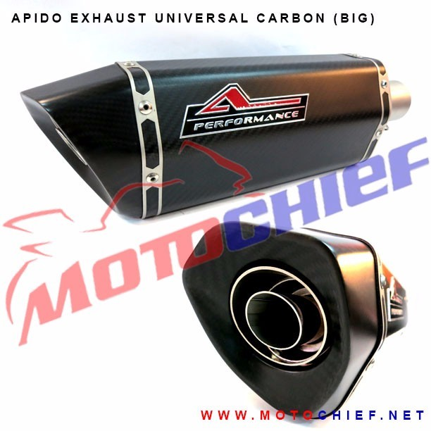 Apido - Knalpot Racing Universal Carbon Hex-B (Big)