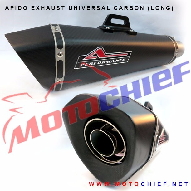 Apido - Knalpot Racing Universal Carbon Hex-R (Long)