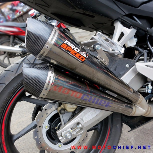 Prospeed - Knalpot Racing CBR250 RR MF Black Double