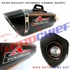 Apido - Knalpot Racing Universal Carbon Hex-X (Short)