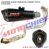 Prospeed - Knalpot Racing N250FI Shark Carbon Stainless
