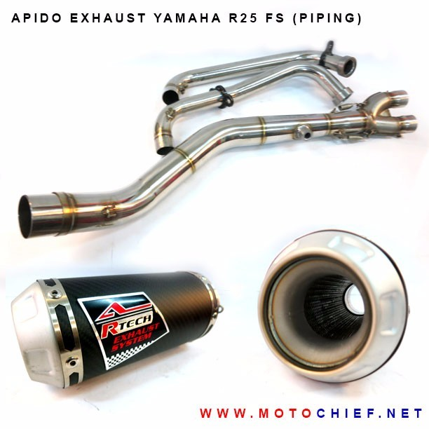 Apido - Knalpot Racing Yamaha R25 FS (Piping)