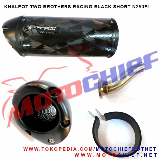 Two Brothers Racing - Knalpot Black Carbon N250FI Slip On