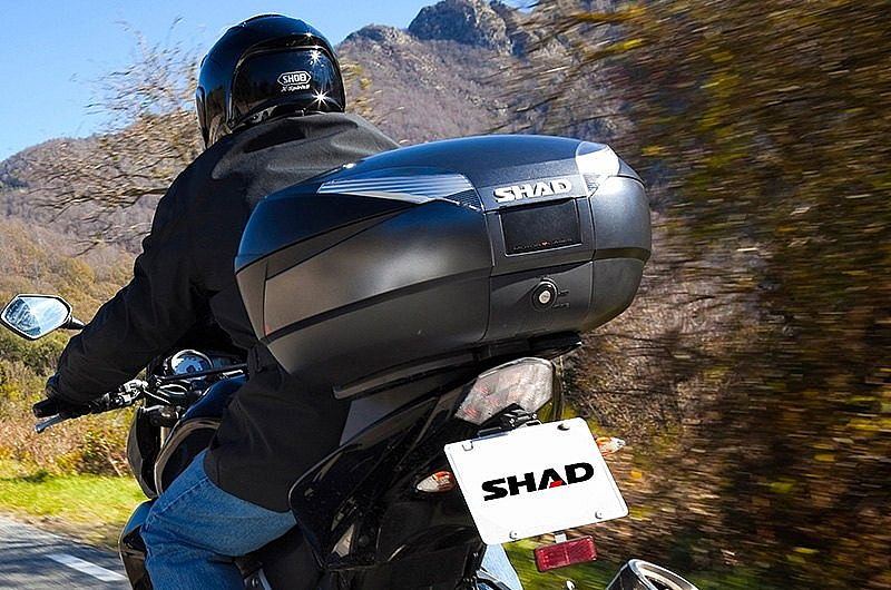 SHAD - Top Case SH48 Dark Grey With Backrest